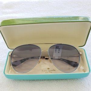 kate spade blue Caroline aviator sunglasses